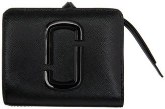 Marc Jacobs Black Mini Snapshot Compact Wallet