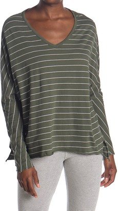 Frank And Eileen Striped V-Neck Long Sleeve T-Shirt