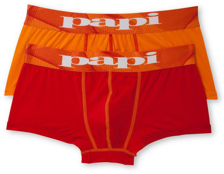 Papi Men's Microfusion Athletic Performance Brazilian Trunks 2-Pack
