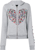 Philipp Plein embellished heart hoodie