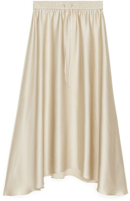 Arket Satin Midi Skirt
