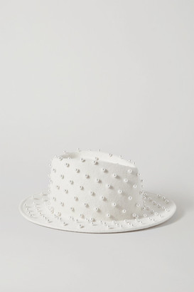 Eugenia Kim Walker Embellished Wool-felt Fedora - White