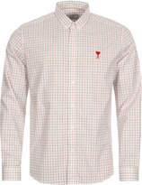Ami Check Shirt - White