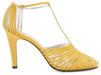 Givenchy Caged Leather Sandals - Yellow