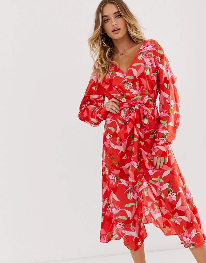 Talulah Daiquiri floral print midi dress