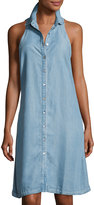Neiman Marcus Sleeveless Denim Shirtdress