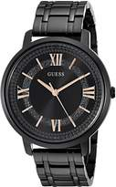 GUESS GUESS? Women's U0933L4 Stainless Steel Black Ion-Plated Watch with Hints of Glitz Dial & Rose Gold-Tone Accents