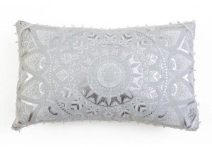 Thro 12x20 Mindy Medallion Pillow in Silver