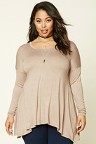 Forever 21 FOREVER 21+ Plus Size Draped Top
