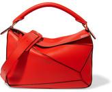 Loewe Puzzle Leather Shoulder Bag - Red