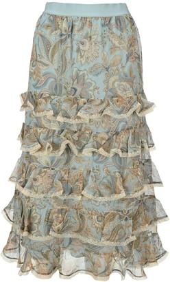 Zimmermann Ladybeetle Tiered Frill Skirt