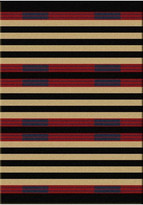 Dakota American Chief Stripe Rug, Red, 5'x8', Rectangle