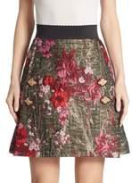 Dolce & Gabbana Floral Silk Jacquard Skirt