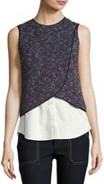 Derek Lam 10 Crosby 2-In-1 Tank Top Combo, Navy