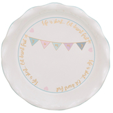 10 Strawberry Street Pie Life is Short Porcelain Plate