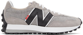 Levi's Levis Grey and White New Balance Edition 327 Sneakers