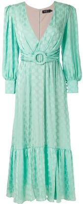 PatBO Wrap-Style Polka Dress