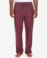 Nautica Men's Red Plaid Lightweight Sueded Fleece Pajama Set