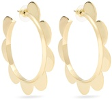 Simone Rocha Flower large gold-plated earrings