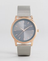 Limit Mesh Strap Watch In Silver Exclusive To Asos
