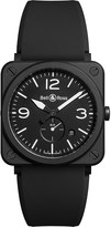 Bell & Ross BRSBLCEM Aviation ceramic and rubber watch