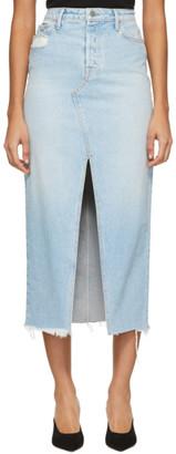 GRLFRND Blue Denim Isla Skirt