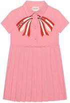 Gucci Children's poplin dress with bow