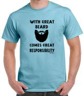 StarliteFunnyShirts Great Beard-Great Responsibility-tshirt-Mens Funny Sayings T Shirts-Blue-L