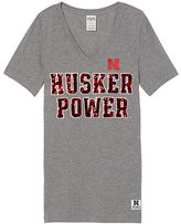 Victoria's Secret Victorias Secret University Of Nebraska Perfect V-Neck Tee