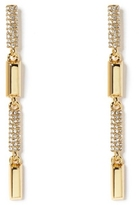 Vince Camuto Goldtone Pavé-accent Linear Earrings