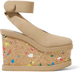 Stella McCartney Faux nubuck wedge sandals