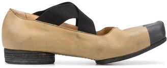 UMA WANG Contrast Toe Ballerina Shoes