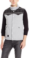Southpole Men's Padded Fleece Vest In Nordic Mono Patterns On Upper Body