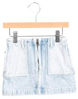 3.1 Phillip Lim Girls' Denim Mini Skirt