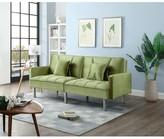 Hemphill Velvet Sleeper Sofa Mercer41 Fabric: Green