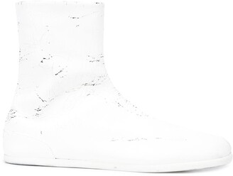 Maison Margiela split toe distressed boots