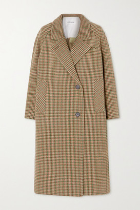 ANDERSSON BELL Ingrid Houndstooth Cotton-tweed Coat