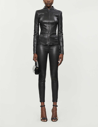 Jitrois Gattaca high-neck leather jacket