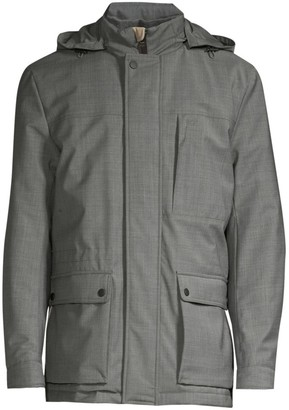 Canali Modern-Fit Hooded Wool-Blend Coat