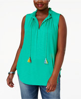 Melissa McCarthy Trendy Plus Size Peasant Top
