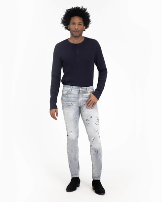 7 For All Mankind Luxe Performance Paxtyn Skinny in Altruist Grey Painted