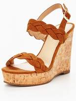 Very Pia Plaited Wedge Sandal - Tan