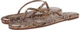 Yosi Samra Roee Snake Leather Flip Flop