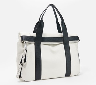 Vince Camuto Leather Tote with Zipper Detail - Sonny