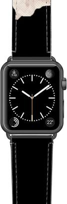 Casetify Sweet Pea Saffiano Faux Leather Apple Watch(R) Strap