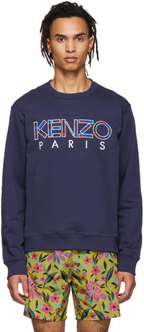 49674efa Kenzo Blue Men's Sweatshirts - ShopStyle