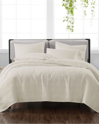 Cannon Solid Ivory 3Pc Quilt Set