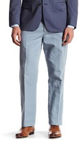 """Bonobos Foundation Blue Woven Regular Fit Double-Pleated Trouser - 32-34"""" Inseam"""