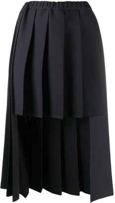 Comme des Garçons Comme des Garçons Dual Length Pleated Skirt