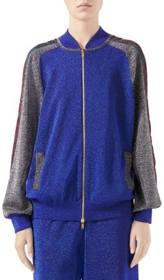 Gucci Fine Wool Lurex Track Jacket